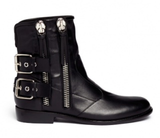 Giuseppe Zanotti Black 'cobain' Motorcycle Buckle Boots