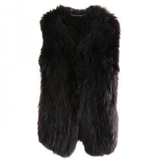 Matthew WilliamsonCoffee Stretch Fox Fur Gilet