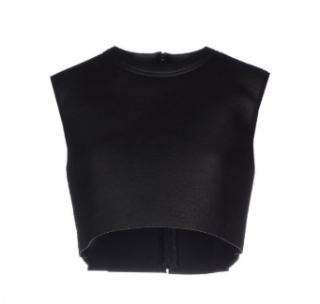 Neil Barrett Neoprene Crop Top
