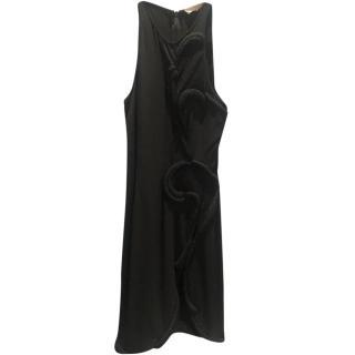 Stella McCartney Mesh Cut-Out Black Dress