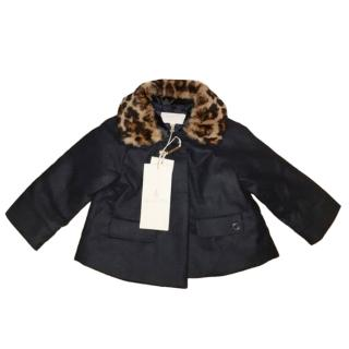 Gucci Baby Girl's Navy Coat