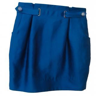 Mulberry silk & wool blue skirt, size 10 Unworn.