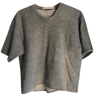 Marni Grey Crop Top