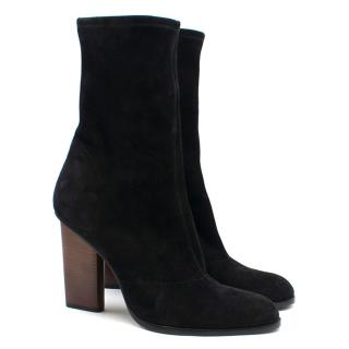 Alexander Wang Black Suede Sock Boots