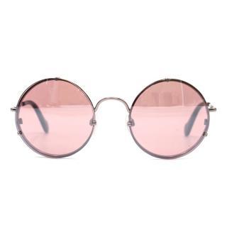 Balenciaga Round Pink Sunglasses