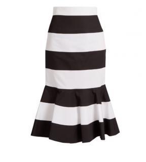 Dolce & Gabbana Striped Midi Skirt
