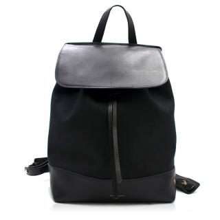 Mansur Gavriel Black Leather Trim Ballerina Backpack