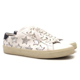 Saint Laurent Court Classic Metallic Leather California Sneakers