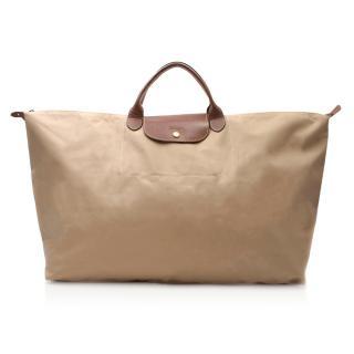 Longchamp Le Pliage Beige XL Travel Bag