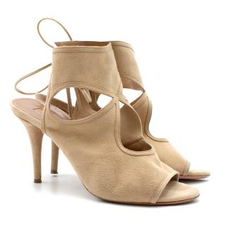 Aquazurra Sexy Thing Suede Cutout Sandals