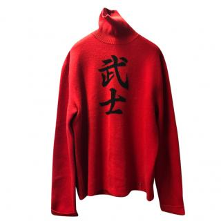 Ralph Lauren Red Cashmere Turtleneck jumper