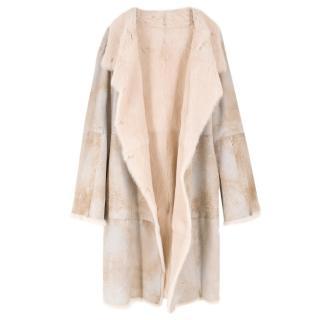 Joseph Cream Rabbit Fur Coat