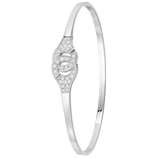 Dinh Van R10 Menottes White Gold & Diamond Bracelet