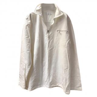 Blanc Blue Funnel Neck Lightweight Sweatshirt