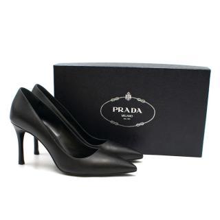 Prada Classic Black Leather Pumps