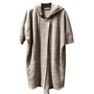 Stefanel Hooded Wool-Blend Cardigan