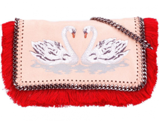 Stella McCartney Swan embroidered Falabella messenger