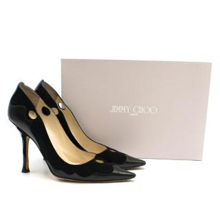 Jimmy Choo Suede & Leather Cut-out Detail Pumps