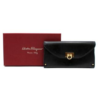 Salvatore Ferragamo Black Leather Wallet