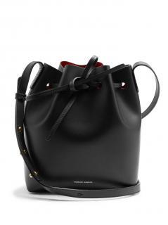 Mansur Gavriel Red-Lined Mini Bucket Bag