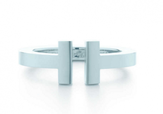 Tiffany T Square Ring - size P