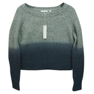 360 Sweater Grey Ombre Effect Wool Blend Jumper
