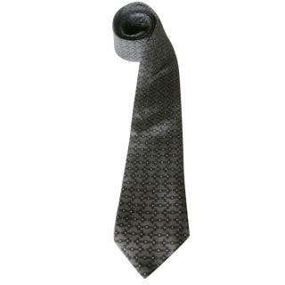 Hermes Gray Ropes Studs Motif Neck Tie