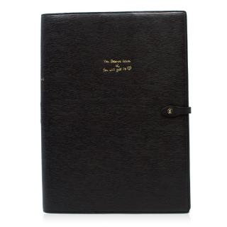 Anya Hindmarch A4 Leather 'You deserve love' Journal W/ Box