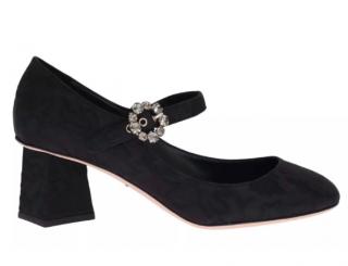 Dolce & Gabbana black brocade mary jane pumps