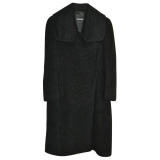 Giorgio Armani Black Wrap Coat