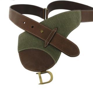 Christian Dior Saddle bum bag style belt