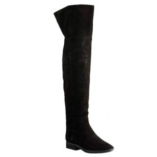 Jil Sander black over-the-knee boots