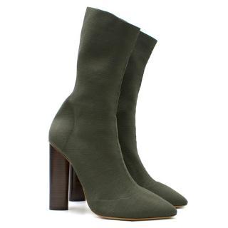 Yeezy Season 2 Olive Sock Boots