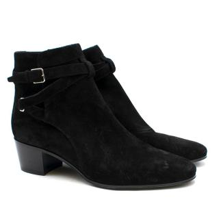Saint Laurent Black Wyatt Jodhpur Ankle Boots