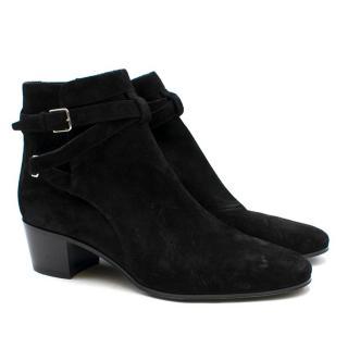 Saint Laurent Black Wyatt Jodhpur Ankle Boots