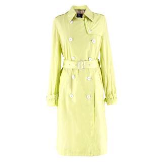 Burberry Neon Green Trench Coat