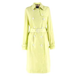 Burberry Neon Green Trench Coat