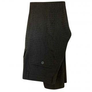Christopher Kane Snake Print Black Trousers