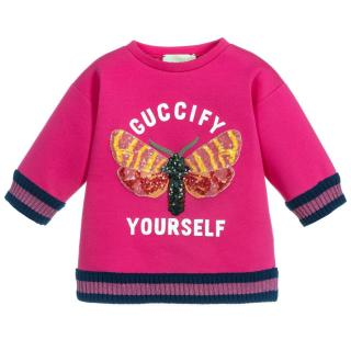 Gucci Girl's Pink Guccify Yourself Sweater