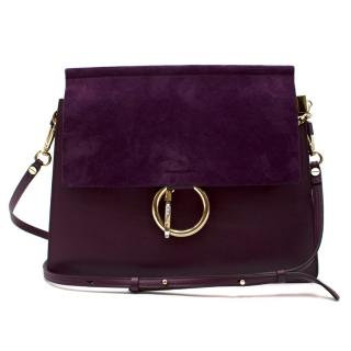 Chloe Purple Faye Shoulder Bag