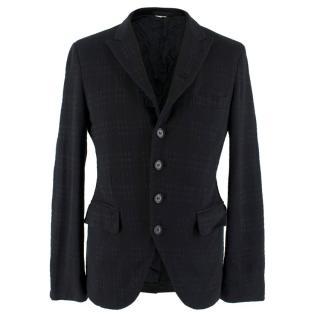 Comme des Garcons Men's Black Wool Blazer