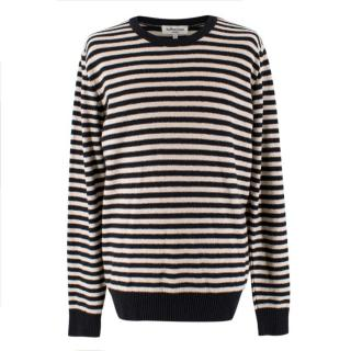YMC White and Black Striped Jumper