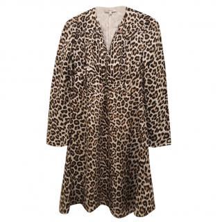 Carven Silk Leopard Print Dress