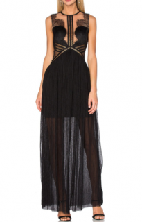 Three Floor 'Portman' Lace-Trimmed Gown