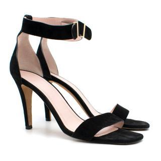 Celine Black Suede Sandals