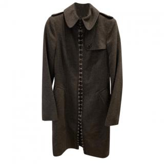 Burberry Hook & Eye Cashmere Coat
