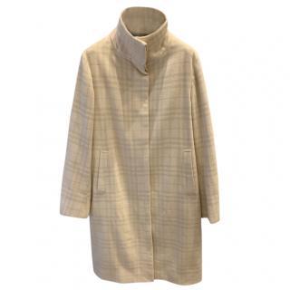Burberry Funnel Neck Wool Coat