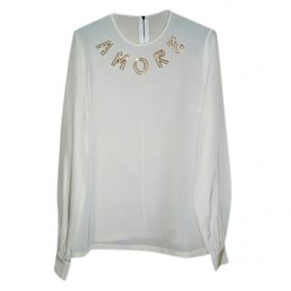 Dolce & Gabbana 'Amore' Embellished Silk Top