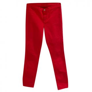 J Brand Red Jeans