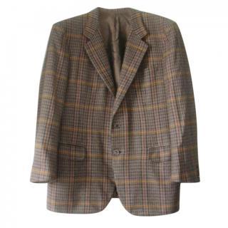 Brioni Tartan 100% Cashmere Jacket